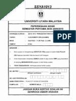 SSYA 1013 Psikologi