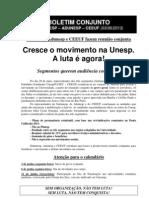 Boletim Conjunto - Sintunesp-Adunesp-CEEUF - 3-6-2013