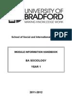 2011-12 Sociology Year 1