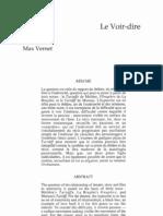 Le Voir-dire - Max Vernet