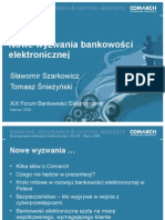 Nowe wyzwania bankowości elektronicznej - systemy informatyczne dla banków