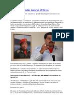 Maduro y los Castro mataron a Chávez