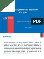 Elaboración  PME  01.04. 2013