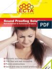 Cellecta Sound Proofing Solutions Refurbishment Brochure May 2012