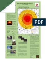 Rango de alcance de proyectiles del volcán popocatépetl