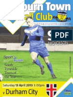 Hebburn Town - Durham Match Programme
