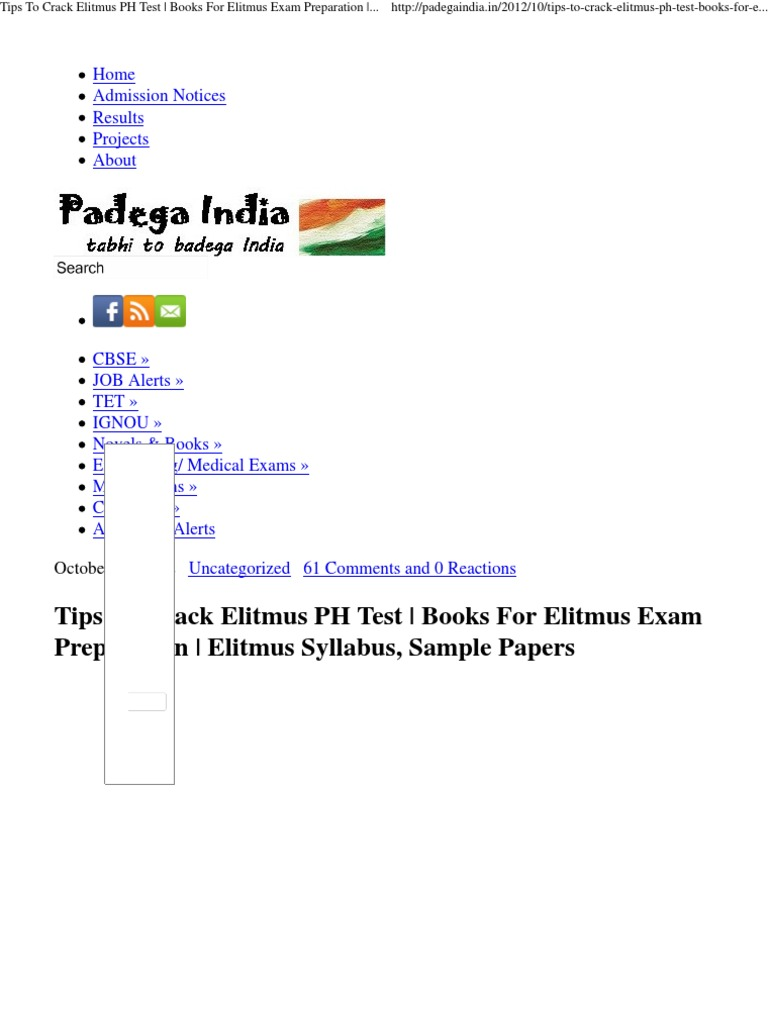 Elitmus Sample Paper Pdf