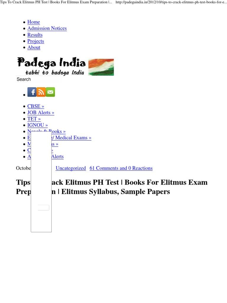 Elitmus Sample Paper Pdf