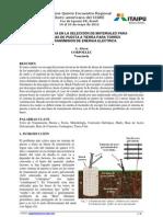 Experiencia en la Selección de Materiales para Sistemas de Puesta a Tierra para Torres de Transmisión de Energía Eléctrica