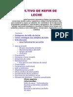 El Cultivo de Kefir de Leche, Articulo Completo, Mejoras, Beneficios, Tratamientos