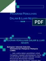 Program Pemulihan Dalam & Luar Negeri