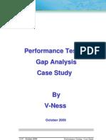 Performance Testing Gap Analysis Case Study