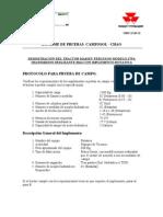 Modelo de Protocolo de Pruebas Massey Ferguson 275(Engranaje Deslizante 8x2)