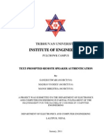 TEXT-PROMPTED REMOTE SPEAKER AUTHENTICATION - Project Report - GANESH TIWARI - IOE - TU