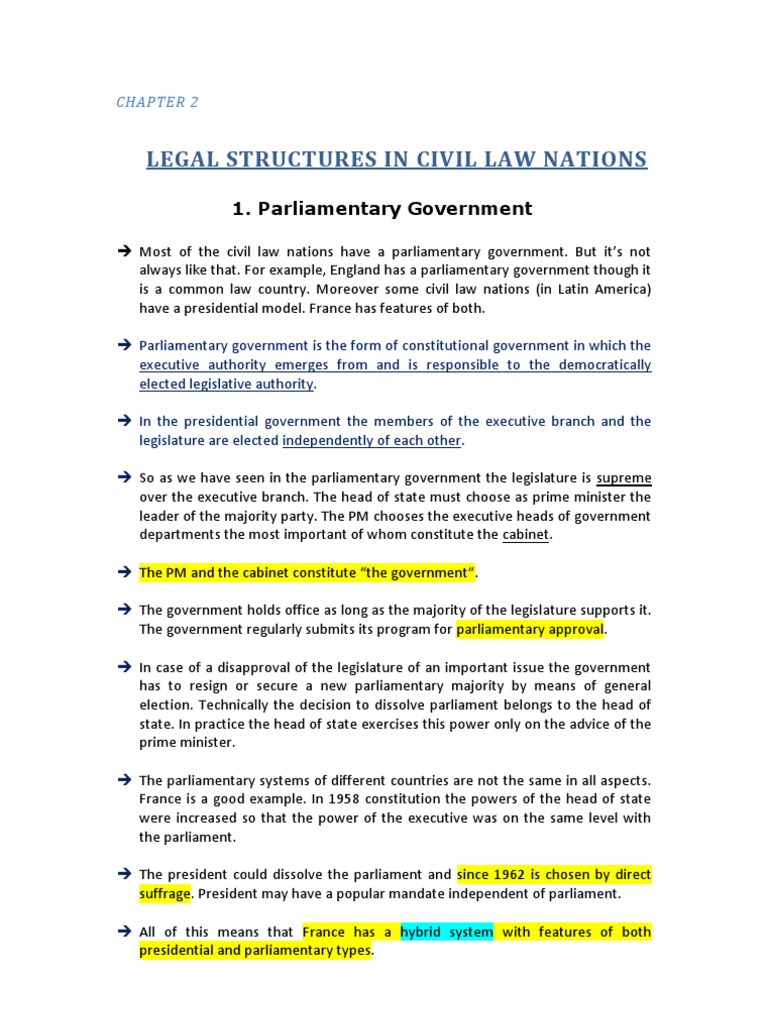 Comparative Legal System And Legal Pluralism Chapter 2 By Knarick