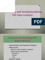 11 - Evaluating and Institutionalizing OD Interventions (3).ppt