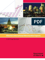 Alberta's International Merchandise Exports - A 10 Year Review
