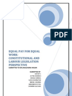 Equal Pay for Equal Work - Labour Laws