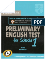 Cambridge Preliminary test for Schools 1 [Book]
