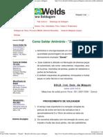 Como Soldar Antimônio - _Zamak_ - Brazilwelds dicas para soldagem