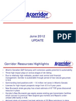 Corridor Resources - 13-June-2012 Presentation
