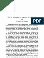 Grundlagen Arithmetik Hilbert