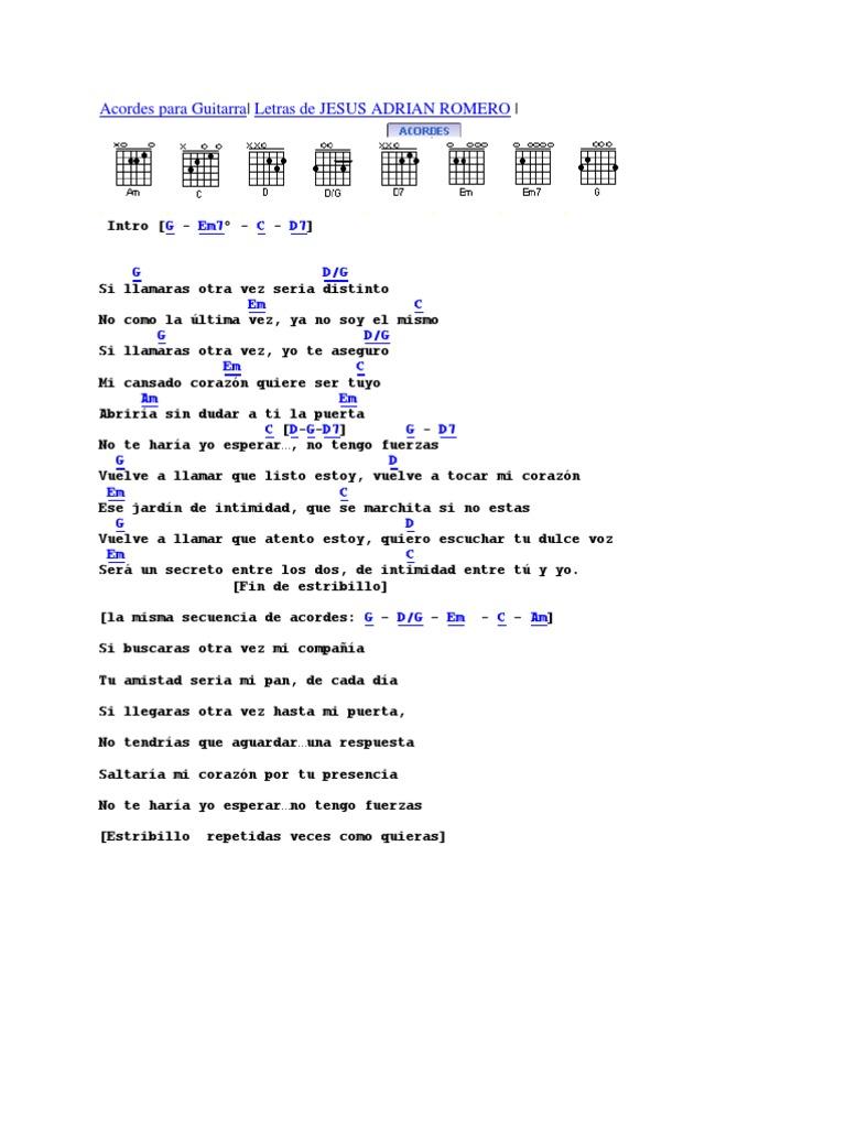 Acordes de canciones for El jardin acordes