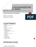 SISTEMAS DE ADQUISICIÓN DE DATOS