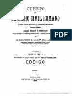 Cuerpo Del Derecho Civil Romano - Tomo i - Codigo