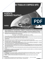 Agente Adminsitrativo MTE08_003_4 - A Prova