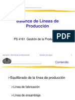 Balanceo de Lineas de Produccion