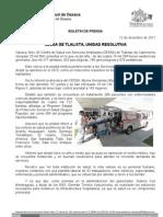 12/12/11 Germán Tenorio Vasconcelos cessa de Tlalixta, Unidad Resolutiva