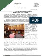 14/12/11 Germán Tenorio Vasconcelos CAPACITAN A PERSONAL MÉDICO PARA IDENTIFICAR INTOXICACIONES POR PLAGUICIDAS
