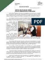 18/12/11 Germán Tenorio Vasconcelos HOSPITAL DE IXTLÁN DE JUÁREZ, RESOLUTIVO AL SERVICIO DE LA POBLACIÓN