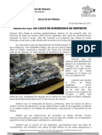 19/12/11 Germán Tenorio Vasconcelos registra Sso 406 Casos de Mordeduras de Serpiente