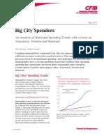 CFIB Analysis of Municipal Spending May 2013
