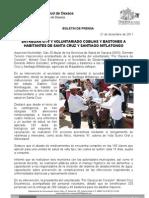 21/12/11 Germán Tenorio Vasconcelos y Voluntariado entregan Cobijas y Bastones a Habitantes de Santa Cruz y Santia_0