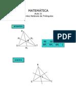 Matemática - Aula 21 - Pontos Notáveis de triângulos