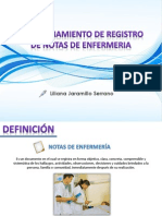 Diligenciamiento de Registro de Notas de Enfermeria
