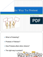 The Right Way to Protest (POwerpoint)