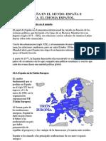TEMA 12. España en el mundo