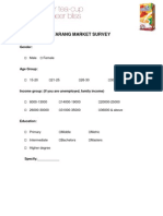 Marketing Funnel Survey (Taraang)