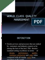 world class quality Management
