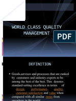 world class quality Management
