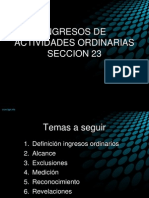 SECCION 23 INGRESOS DE ACTIVIDADES ORDINARIAS.ppt