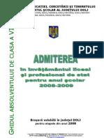Brosura Admitere Liceu Dolj 2008-2009