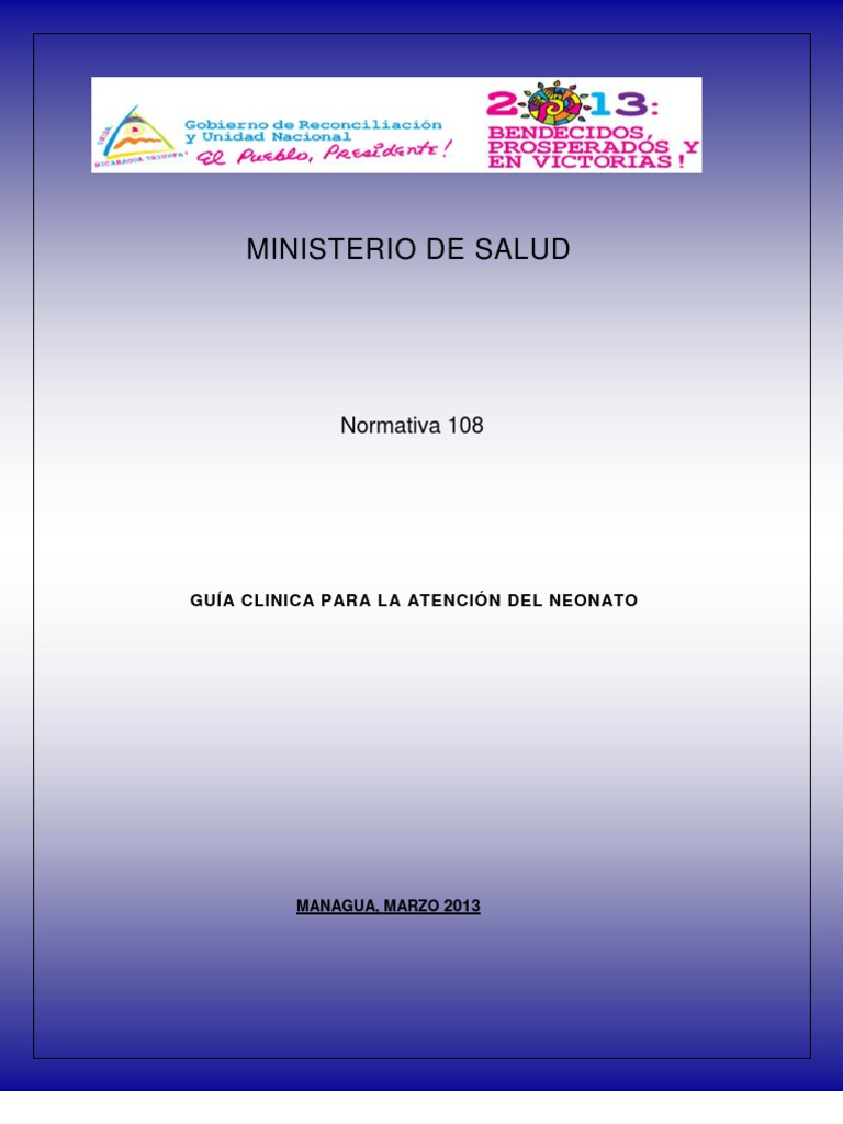 Guía Clínica para la Atención del Neonato ©MINSA 2013