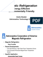 Magnetic Refrigeration Energy Efficient Environmentally Friendly
