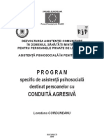 Program Destinat Pers Cu Conduita Agresiva