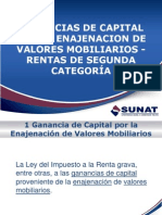 Ganancias de Capital x La Enajenaci%F3n de Valores Mobiliarios Rta 2a Categoria